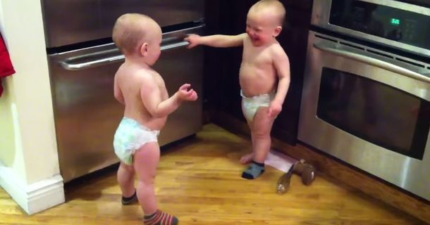 These Twin Babies Are Engaged In An Intense Conversation